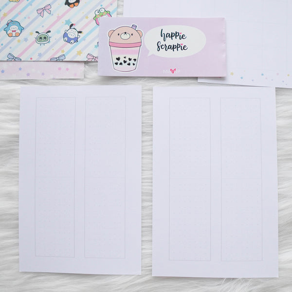 Disc / Rings Planner Inserts - Cutie Patootie // Weekly (With Monthly View)