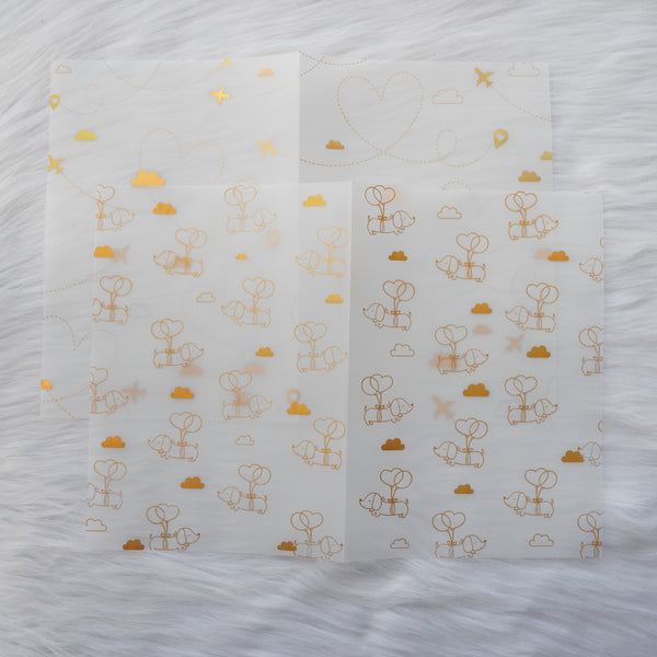 Vellum : Holo Gold Foiled // Let's Go Travel  (Set of 2)