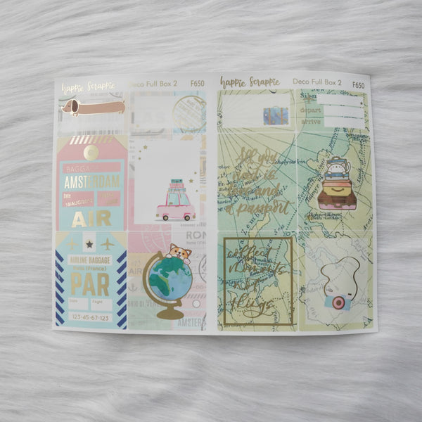 Sticker Kit - Let's Go Travel (3 Deco Full Boxes) - Foiled Stickers (F649 / F650 / F651)