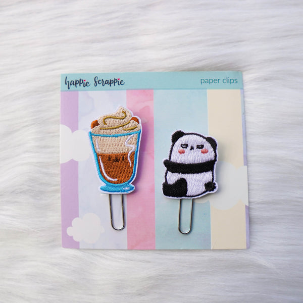 Embroidery Paper Clips : Positivi-TEA (Set of 2)