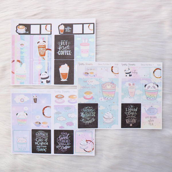 Sticker Kit - Positivi-TEA (3 Deco Full Boxes) - Foiled Stickers (F658 / F659 / F660)
