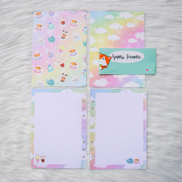 Disc / Rings Planner Inserts - Positivi-TEA // Dotted