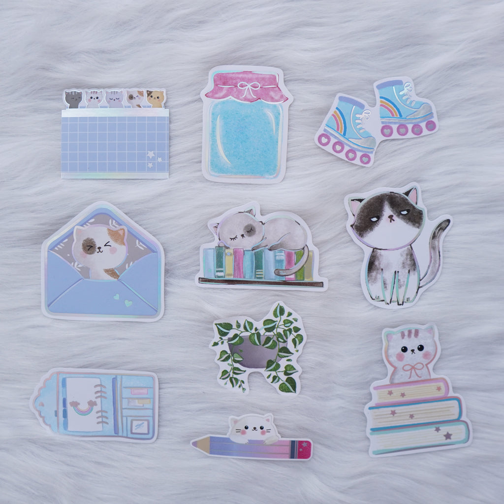 Die Cut Stickers : Fave Things // Holo Silver Foiled