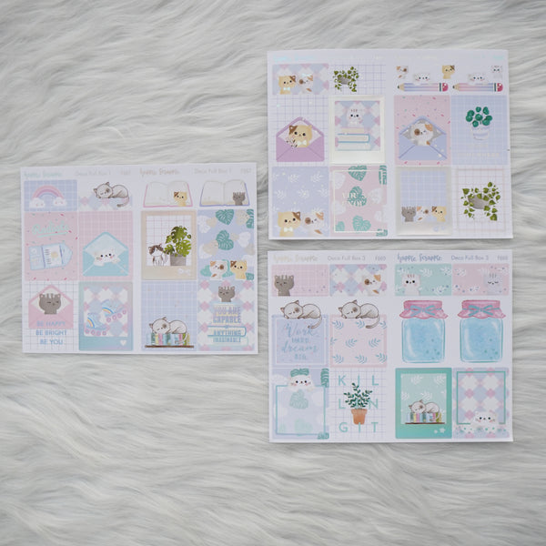 Sticker Kit - Fave Things Kitty (3 Deco Full Boxes) - Foiled Stickers (F667 / F668 / F669)