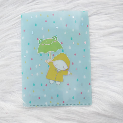 Jumbo Sticker Folder :Spring Shower Storage Folder (Holo Silver Foiled) // Collab with OnceMoreWithLove