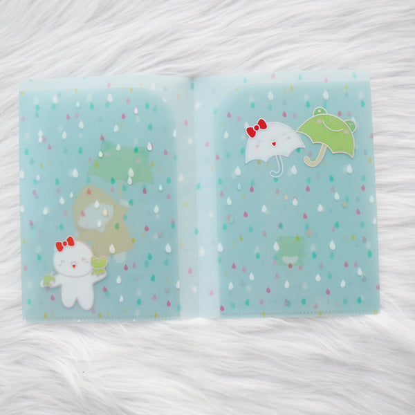 Regular Sticker Folder : Spring Shower Storage Folder (Holo Silver Foiled) // Collab with OnceMoreWithLove