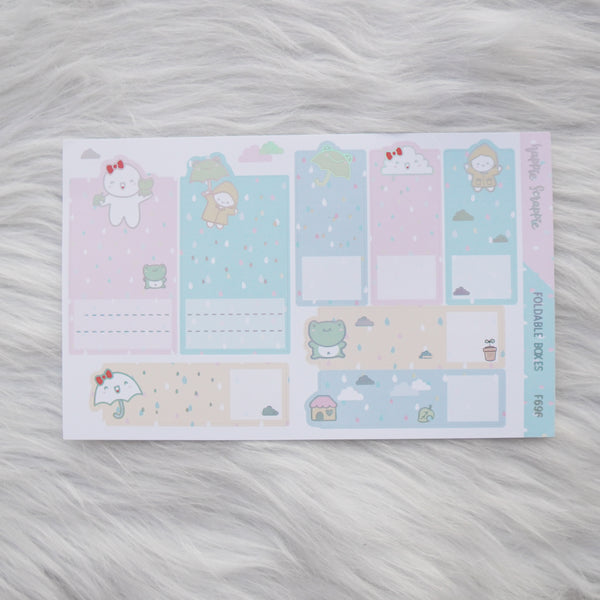 Sticker Kit : Spring Shower (Set of 10 Sheets) - Holo Silver Foiled Stickers