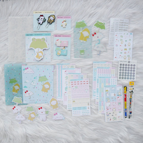 Hobo Weeks Sticker Kit : Spring Shower // April 2020 // Collab with OnceMoreWithLove