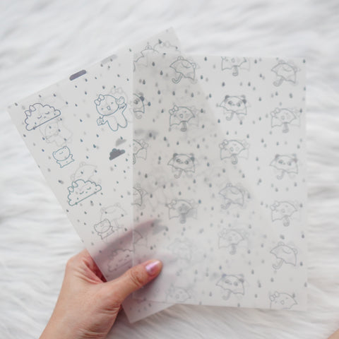 Vellum : Holo Silver Foiled // Spring Shower  (Set of 2)