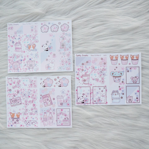 Sticker Kit : Cherry Blossom (Set of 10 Sheets) - Holo Pink Foiled Stickers