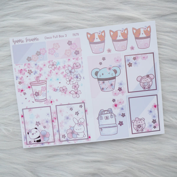 Sticker Kit - Cherry Blossom (3 Deco Full Boxes) - Foiled Stickers (F677 / F678 / F679)