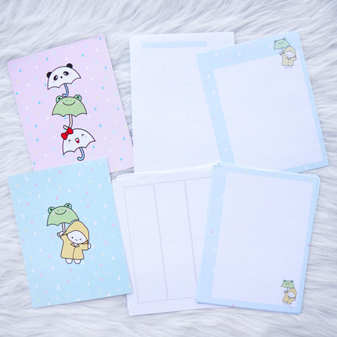 Travel Notebook (All Sizes) - Spring Shower // Weekly (With Monthly View)