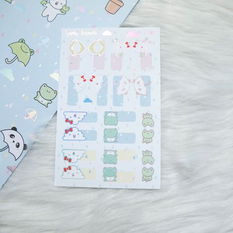 Planner Stickers : Spring Shower  // Foiled Tabs (B393)
