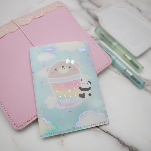 Regular Sticker Folder : Positivi-TEA (Boba Bear) Storage Folder (Holo Silver Foiled)
