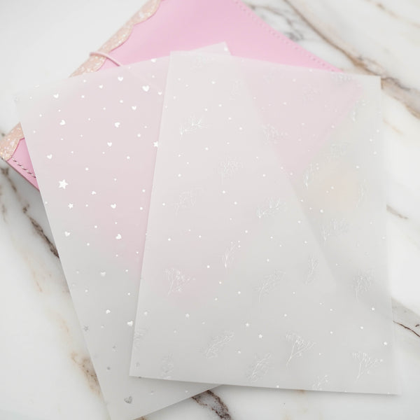 Vellum : Holo Silver Foiled // Foodie's Delight // Collab with Molly  (Set of 2)