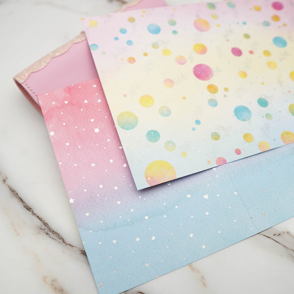 Pattern Papers : Holo Silver Foiled //  Foodie's Delight (Set of 4) // Collab with Molly