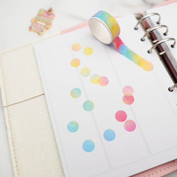 Die Cut Washi Tape : Foodie's Delight // Rainbow Round Dots