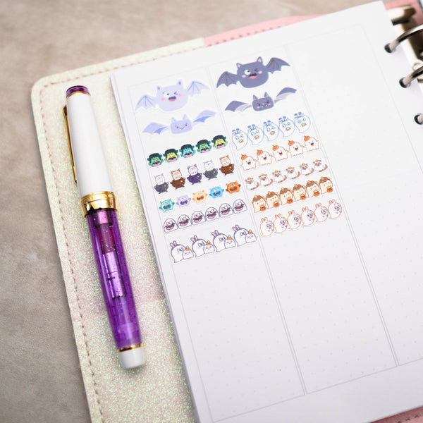 Planner Stickers : Happie Halloween // All the Headers - 1.5inch (B430)