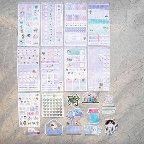 Hobo Weeks Sticker Kit: Favourite Things / Kitty (STICKERS ONLY) // HW-007 -- HW-014