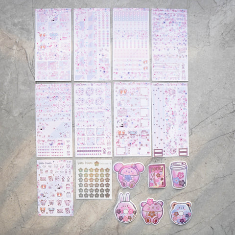 Hobo Weeks Sticker Kit: Blossoms (STICKERS ONLY) // HW-015 -- HW-022