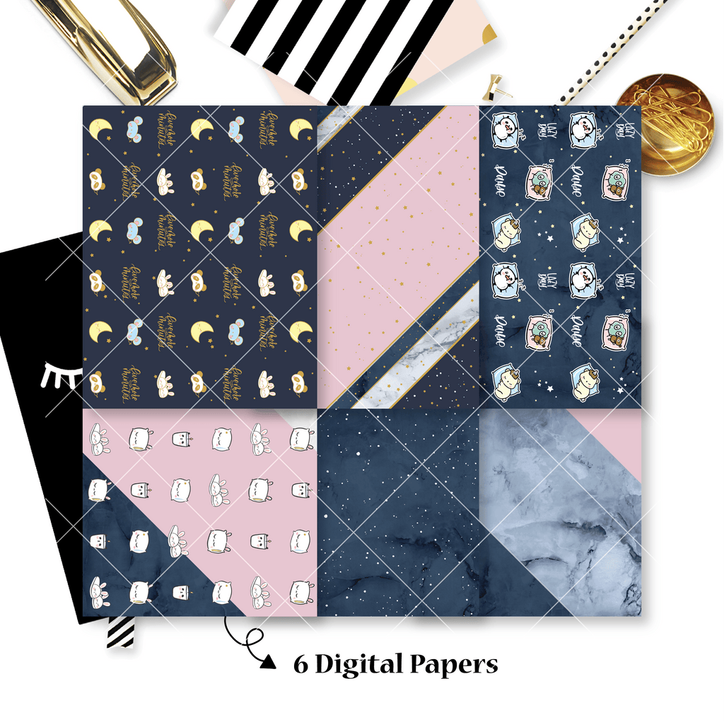 DIGITAL PAPERS - No Physical Product : Me Time Themed Digital Papers