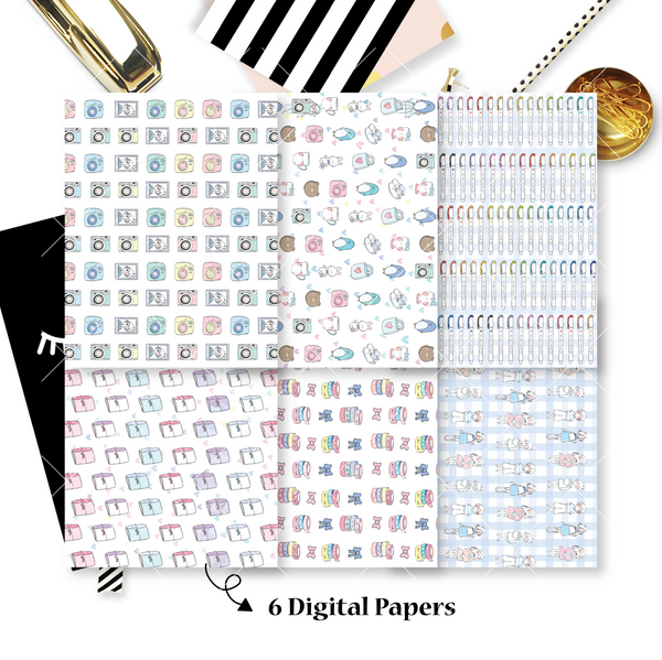 DIGITAL PAPERS - No Physical Product : My Favourite Things Themed Digital Papers