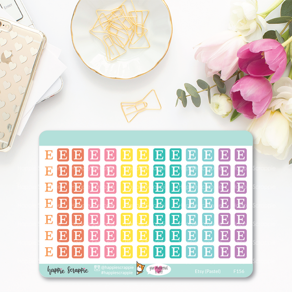 Planner Stickers : Functional Stickers - Etsy (Bright & Pastel)
