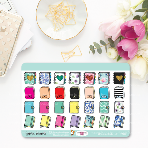 Planner Stickers : Functional Stickers - Planner Addicts 2 (F189)