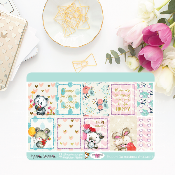 Planner Stickers :  Cutie Pie (Single Sheets) - Erin Condren Stickers