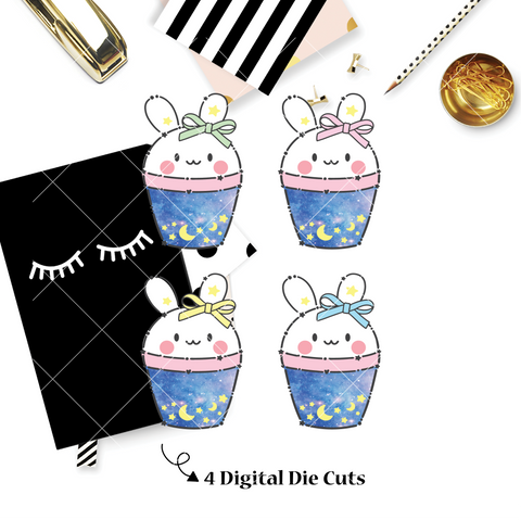 DIGITAL DOWNLOAD! - No Physical Product : Boba Bunny / Constellation Themed Digital Die Cut