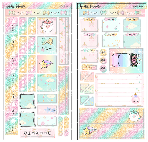 Hobonichi Weeks Sticker Kit - Chubby Unicorn // H009