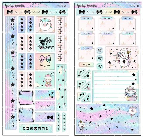 Hobonichi Weeks Sticker Kit - Magical Wishes // H012 - Foiled Stickers