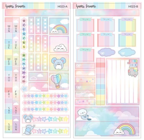 Hobonichi Weeks Sticker Kit - Rainbow // H023