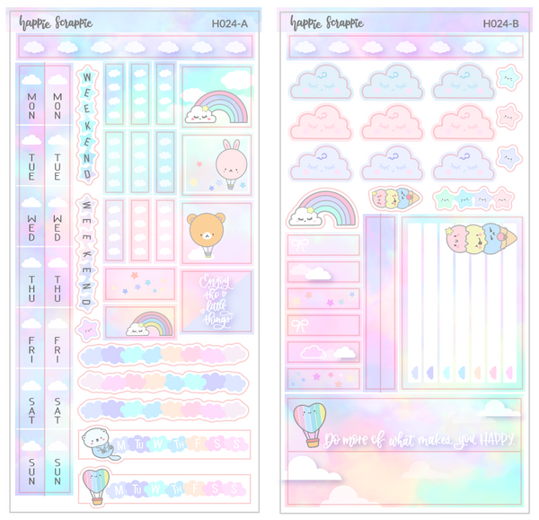 Hobonichi Weeks Sticker Kit - Cloud// H024