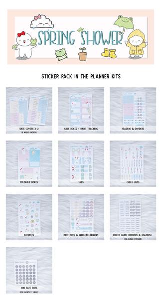 Happie Planner Kit : Spring Shower // April 2020 // Collab With OnceMoreWithLove