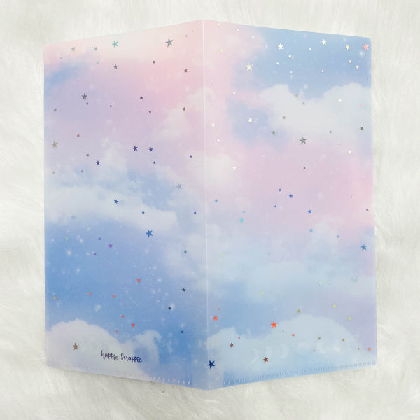 Hobo Weeks Sticker Folder : Moon & Stars Storage Folder (Holo Silver Foiled)