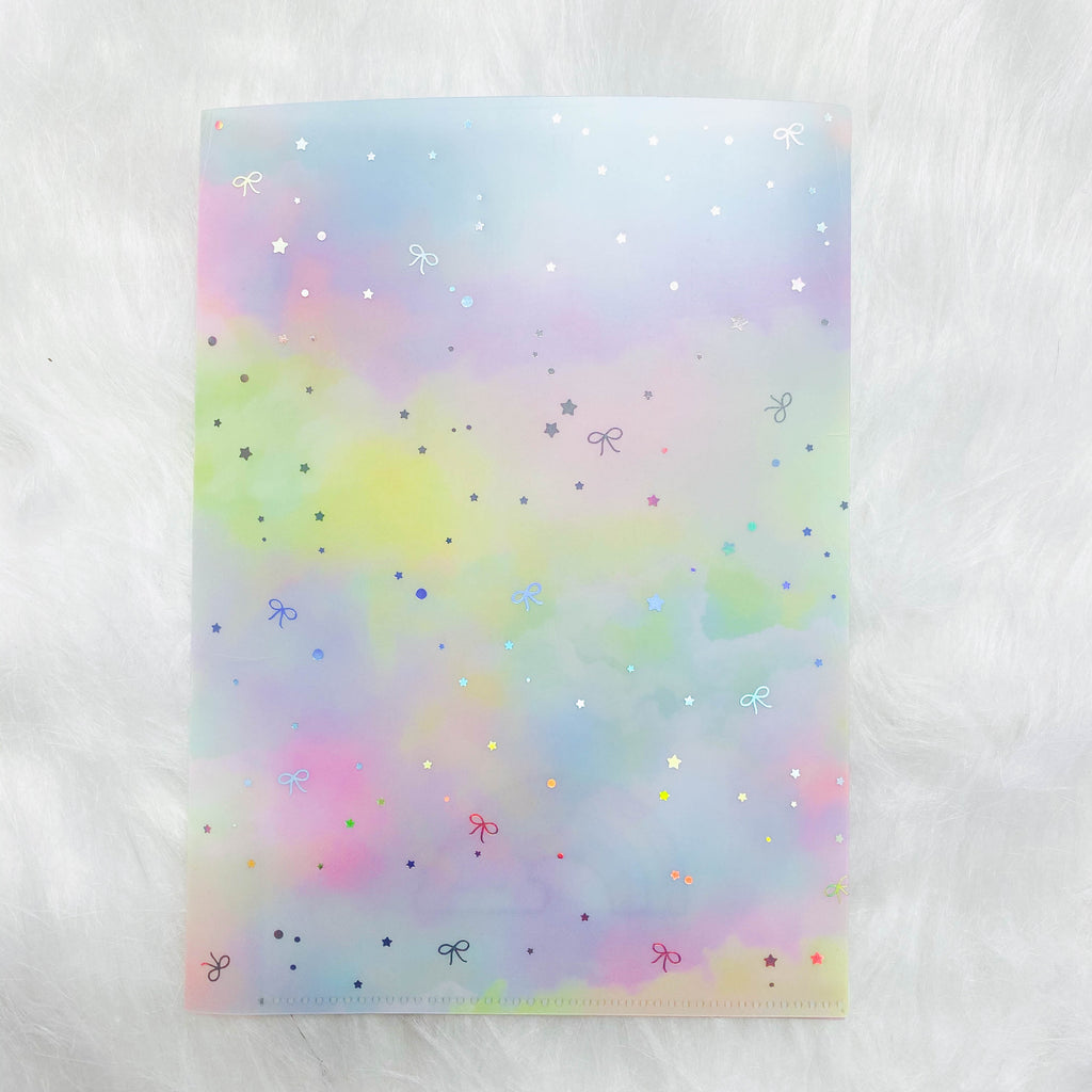 Jumbo Sticker Folder : Rainbow Storage Folder (Holo Silver Foiled)