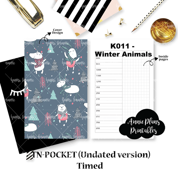 Travel Notebook (TN-Pocket) -  Annie Plans' Timed (4-week // UNDATED)