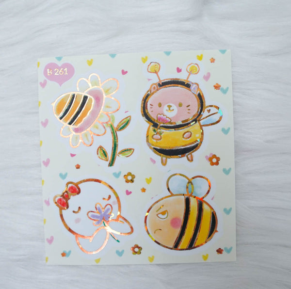 Foiled Stickers : Bee-YOU-Tiful // Big Elements (Collab with Once More With Love & Happy Daya) - B261