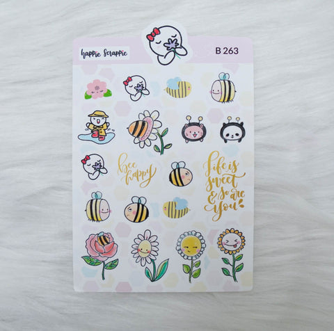 Planner Stickers : Bee-YOU-tiful- Elements 1 (B263)