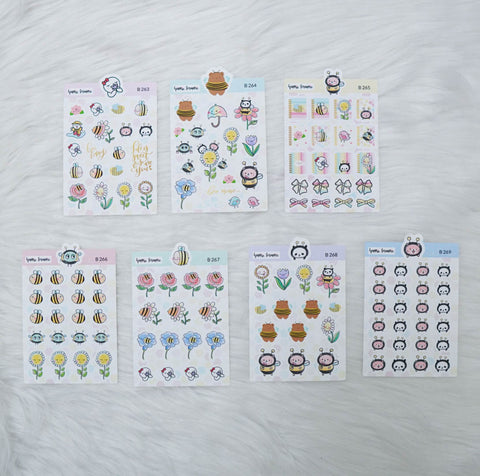 Planner Stickers : Bee-YOU-tiful- All The Elements (B263 - B269)