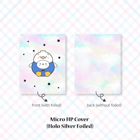 Planner Cover : Cutie Patootie // Blue Shirt Duck (Holo Silver Foiled)