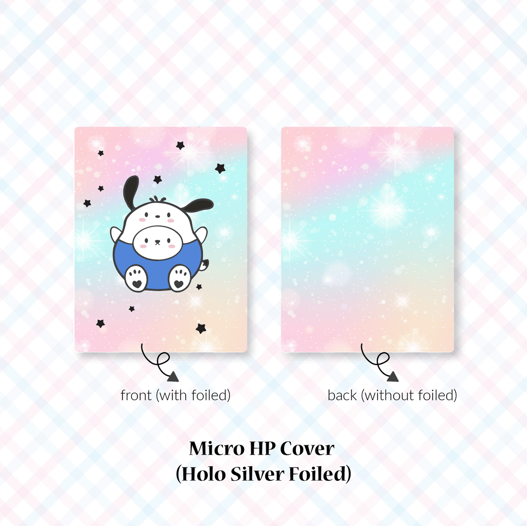 Planner Cover : Cutie Patootie // Blue Shirt Dog (Holo Silver Foiled)