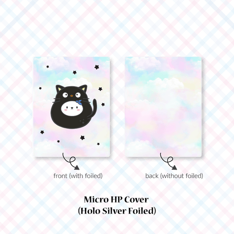 Planner Cover : Cutie Patootie // Black Cat (Holo Silver Foiled)