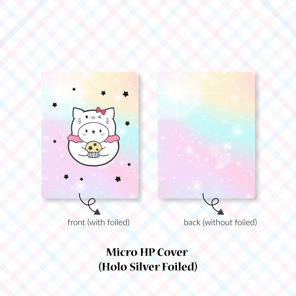 Planner Cover : Cutie Patootie // Kitty (Holo Silver Foiled)