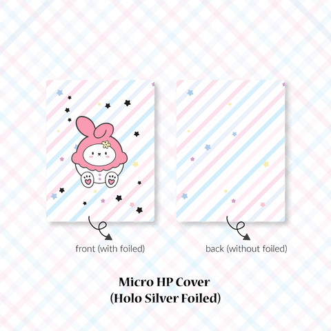 Planner Cover : Cutie Patootie // Pink Bunny (Holo Silver Foiled)