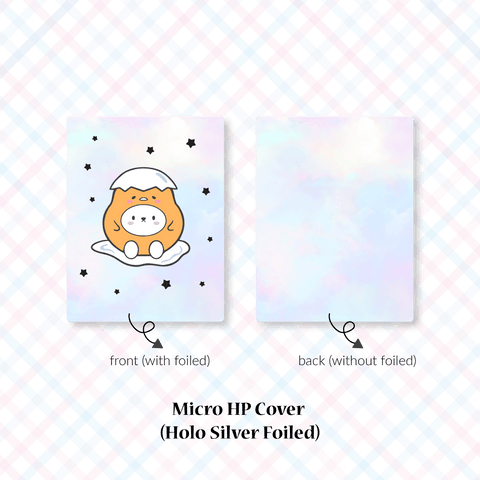 Planner Cover : Cutie Patootie // Lazy Egg (Holo Silver Foiled)