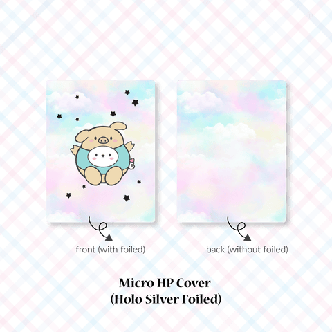 Planner Cover : Cutie Patootie // Teal Piggie (Holo Silver Foiled)