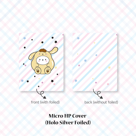 Planner Cover : Cutie Patootie // Yellow Dog (Holo Silver Foiled)