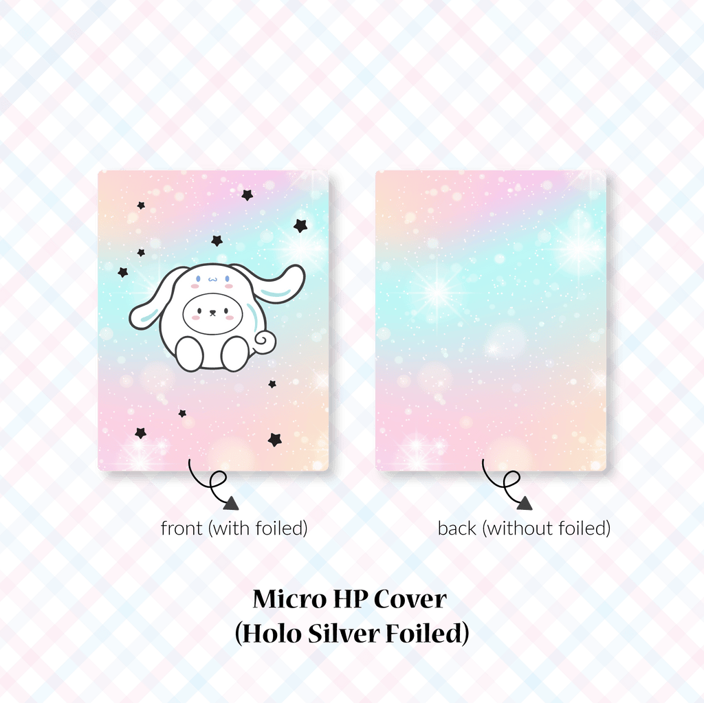 Planner Cover : Cutie Patootie // White Long Ear Dog (Holo Silver Foiled)